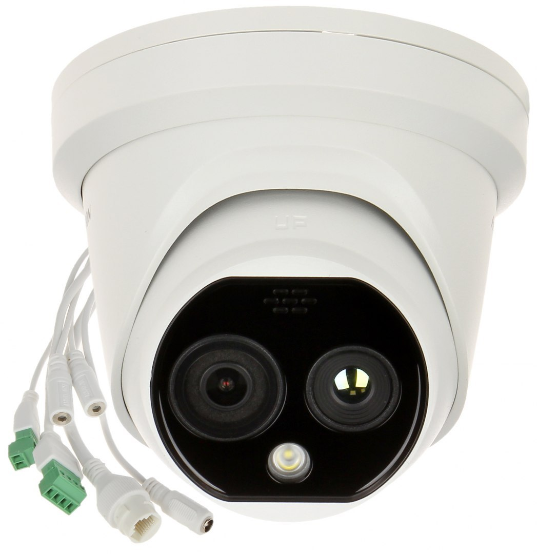 Hikvision HYBRYDOWA KAMERA TERMOWIZYJNA IP DS-2TD1217-2/PA 1.8 mm - 720p, 2.1 mm - 4 Mpx Hikvision